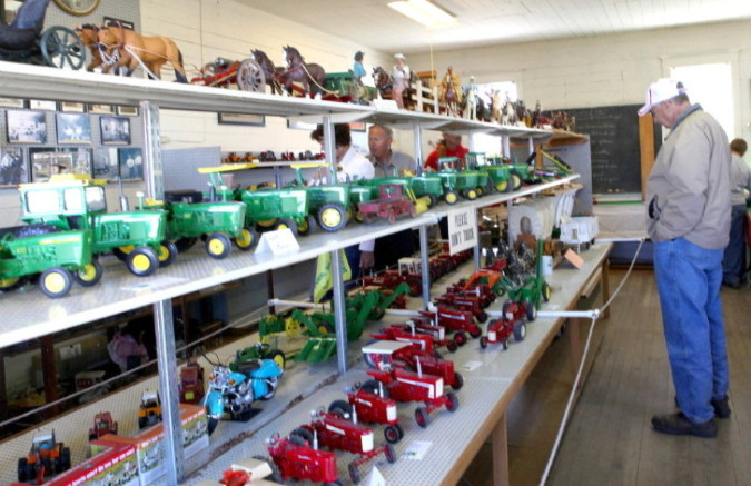 Farm Toys and Dolls Display